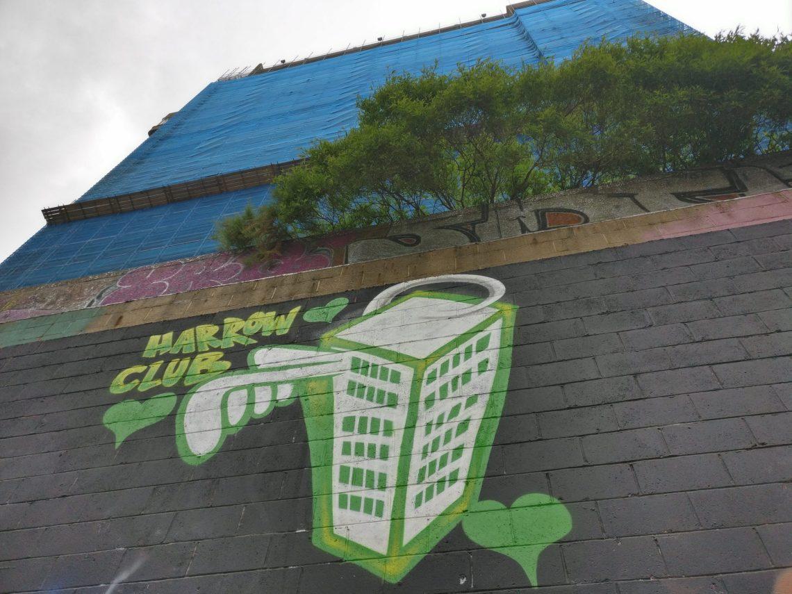 Graffiti at the Grenfell paint jam