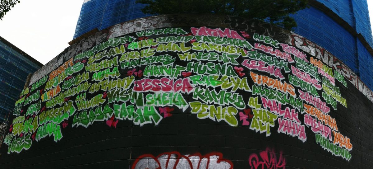 Grenfell Tower Graffiti Jam at the Trellick Tower commemorates the tragedy one year on