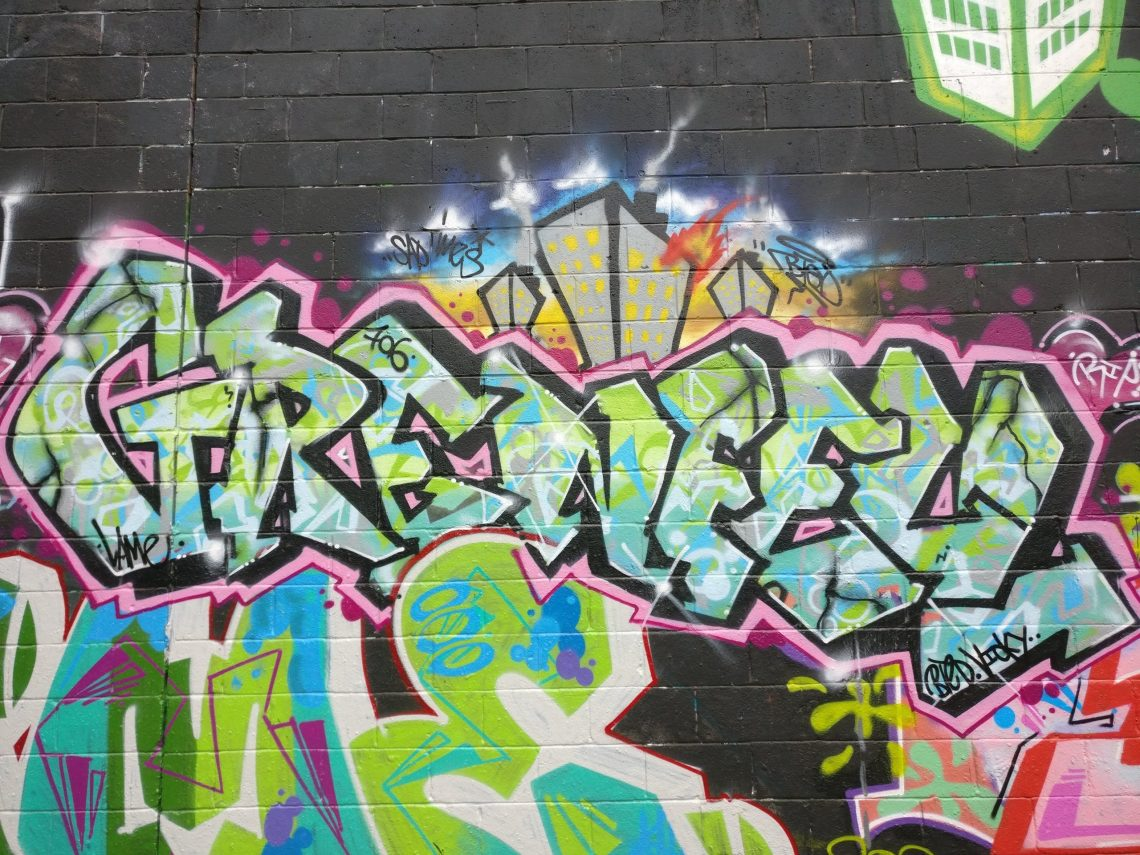 Grenfell tag at the graffiti jam