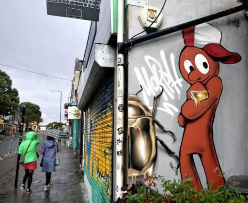 An unofficial collaboration with a previous years piece from fellow Bristol based artist Cheo