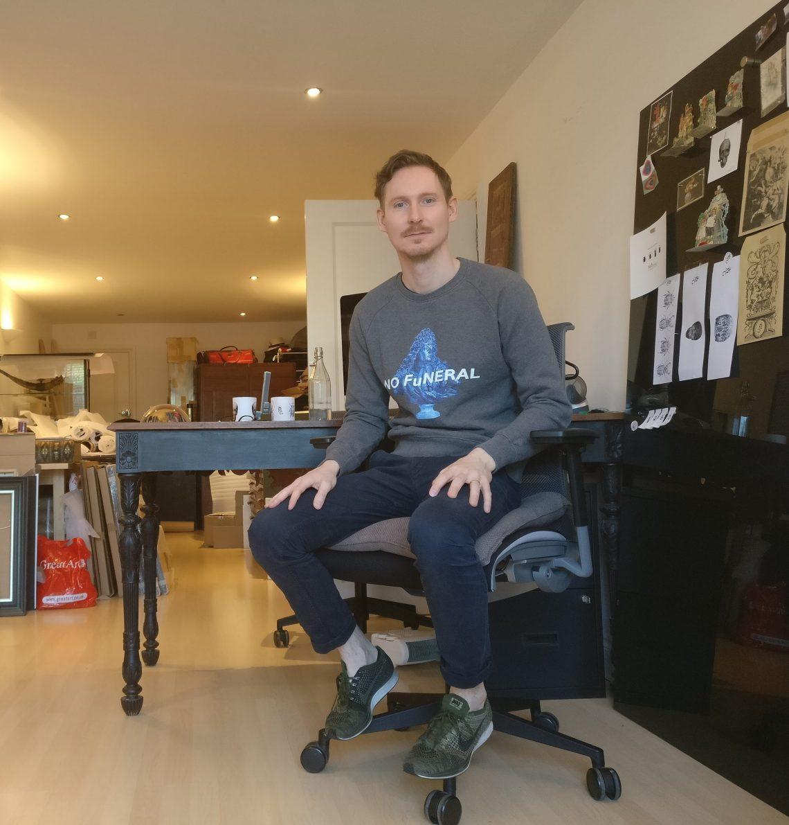 Magnus Gjoen at his studio in London