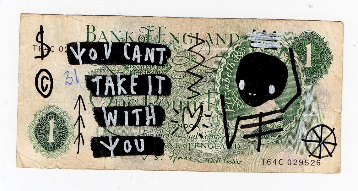 A 04 Skeleton Cardboard cash is king