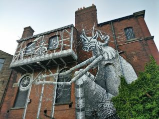 Sheffield based artist Phlegm is well known for his black and white illustrative style.