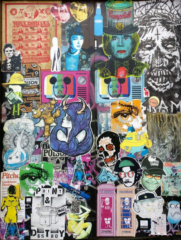 Paste up wall on Newton Lane