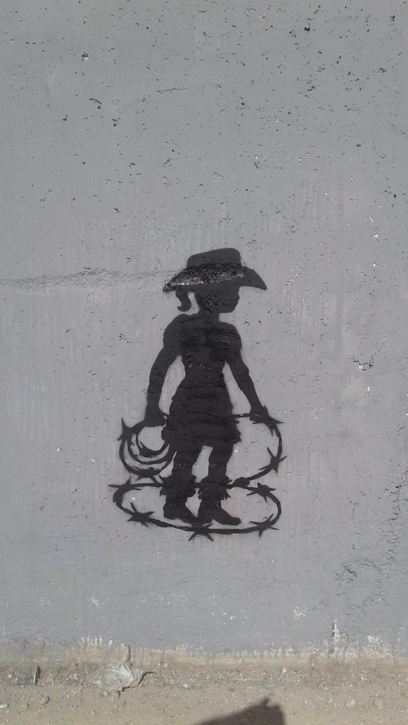 An Interview with Cakes Stencils the artist creating a playground on the West Bank Barrier