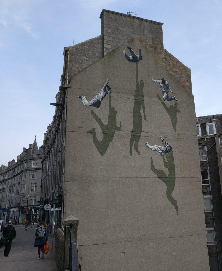 Mural by Stroek for Nuart Aberdeen 2019
