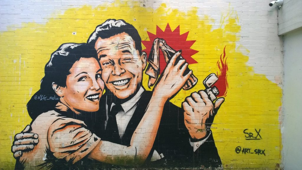 Sr.X street art in Digbeth