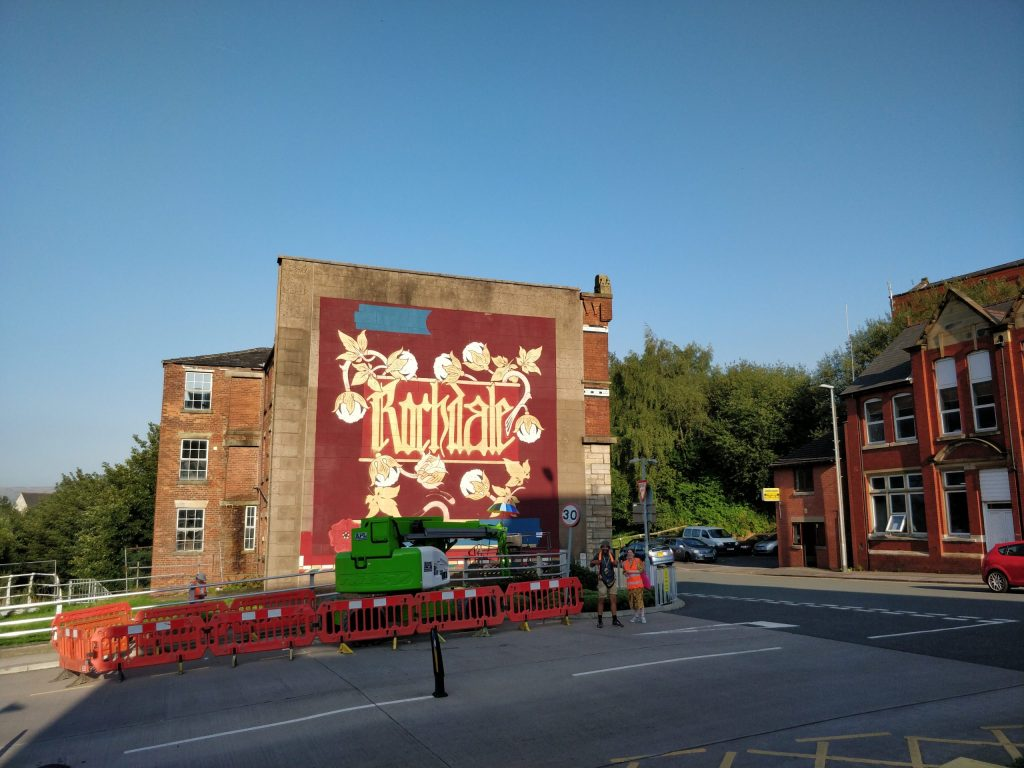 Mural by Philth in Rochdale. He is on our list of best British street artists