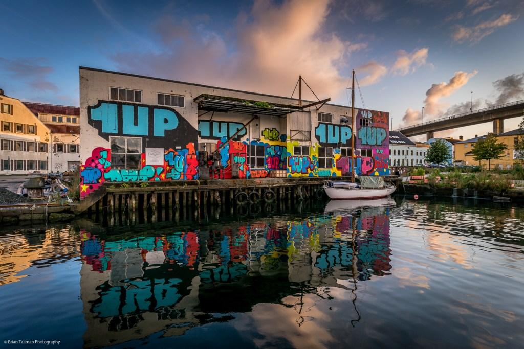 Mural by 1Up crew at the Nuart Stavanger 2019 festival