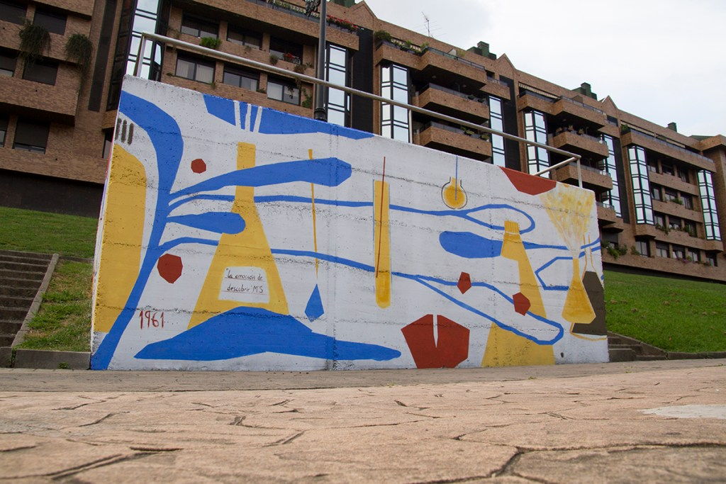 Street art by Catalina Rodriguez Villazon at the Parees Festival in Oviedo
