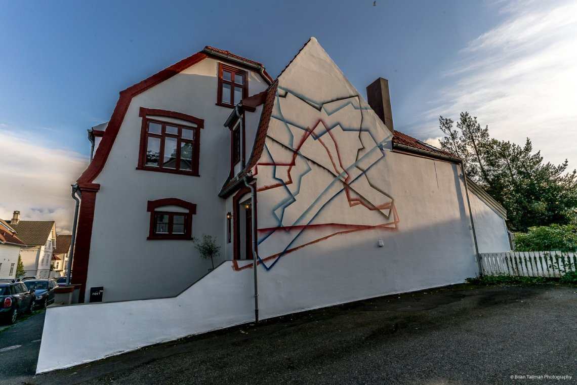 Street art by OX for Nuart in Stavanger.