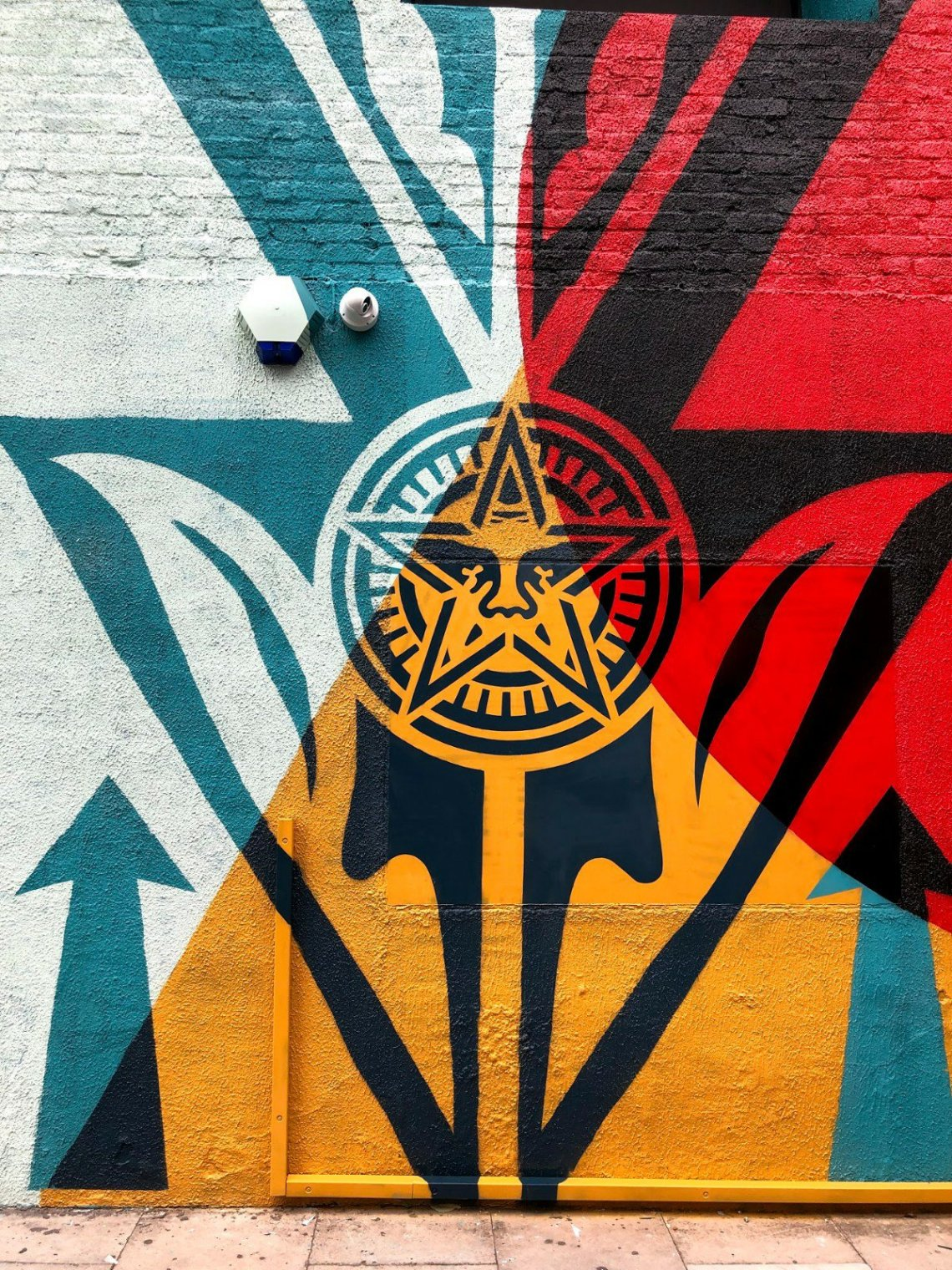 Obey symbol by Shepard Fairey in London