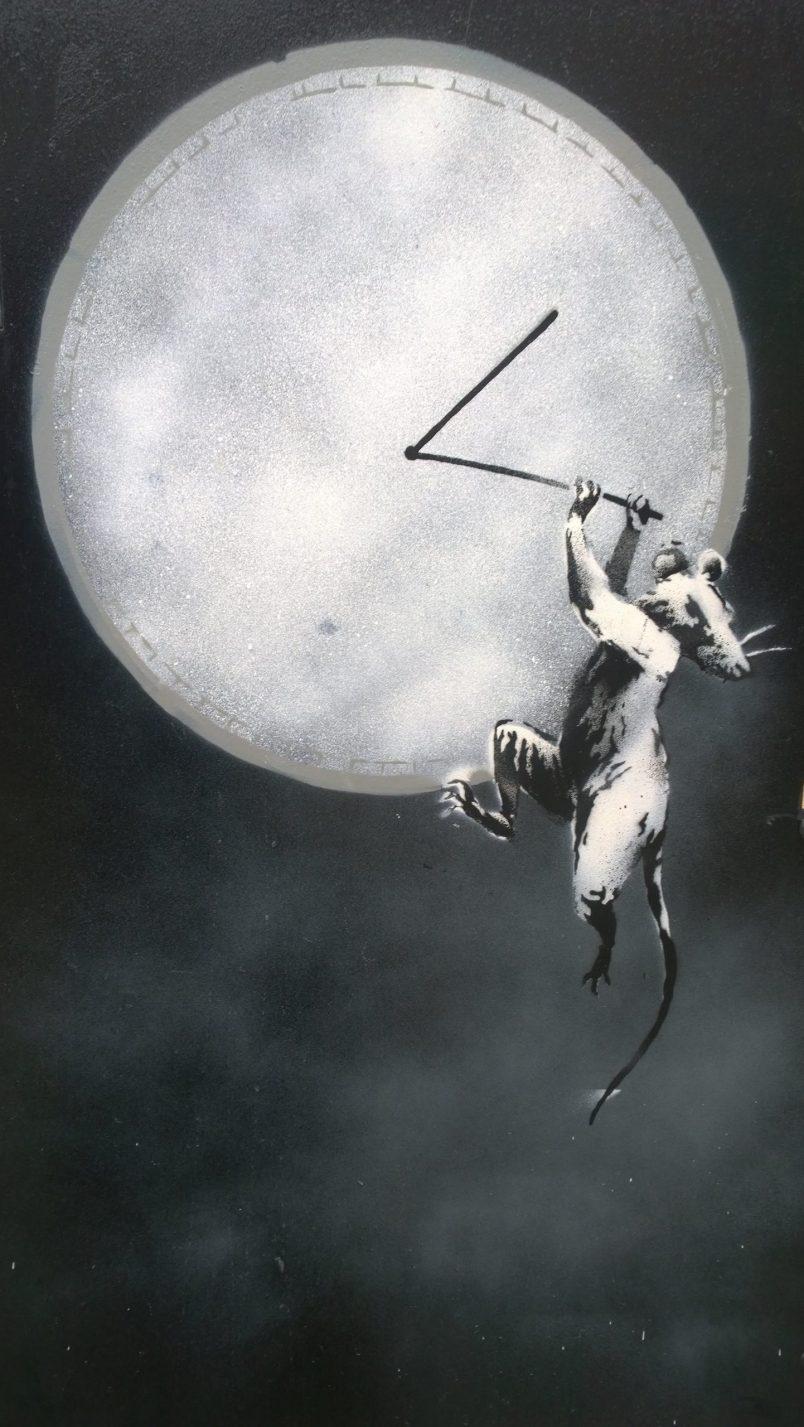 The Banksy Rat street art in Croydon