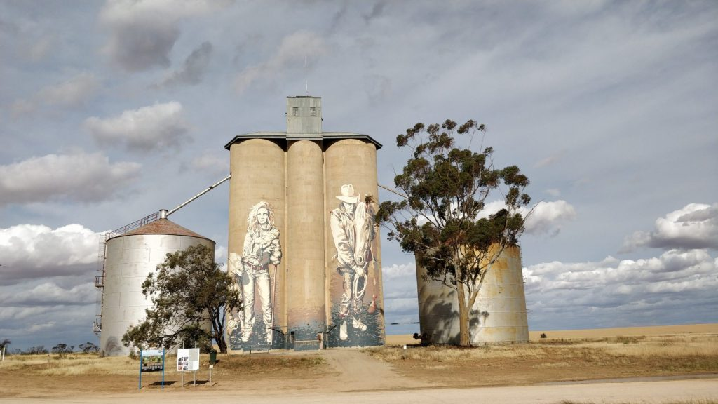 Grain Silo in Rosebery on the Silo Art Trail by street artist Kaff-eine