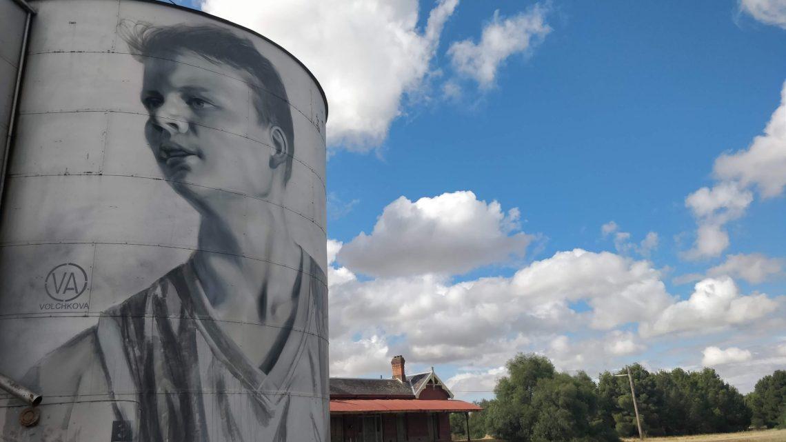 Grain Silo in Rupanyup, Victoria by street artist Julia Volchkova