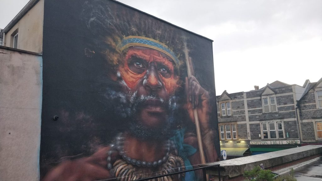 Street art by Dale Grimshaw part of the Upfest Summer Editions