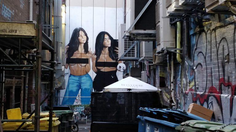 Kim Kardashian selfie by Lush in Melbourne