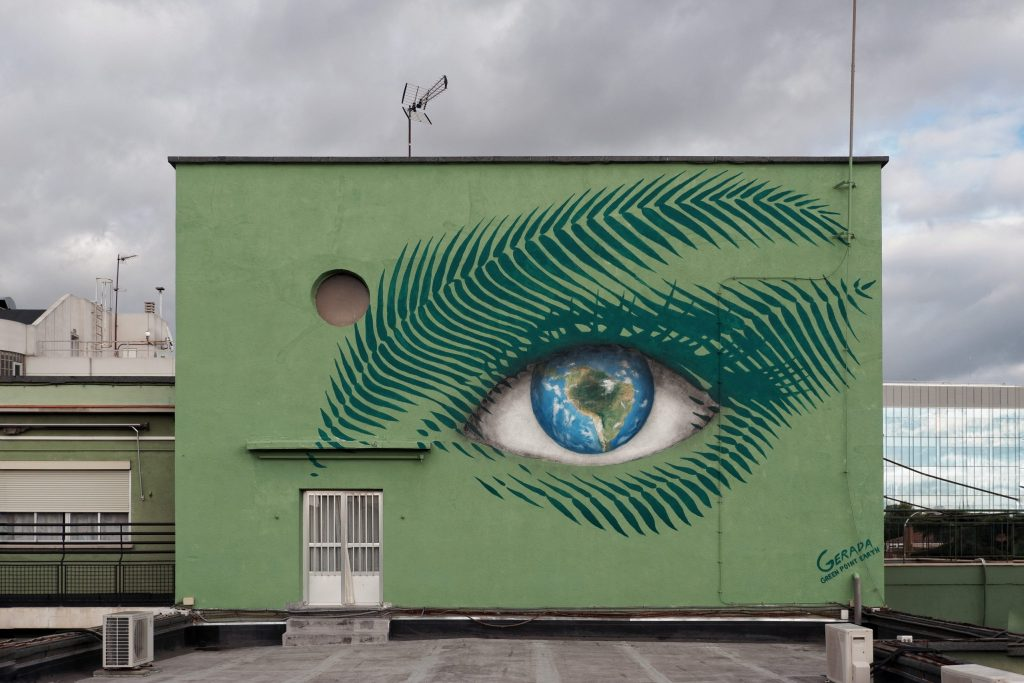 Forest Focus a mural by Jorge Rodriguez Gerada in Madrid