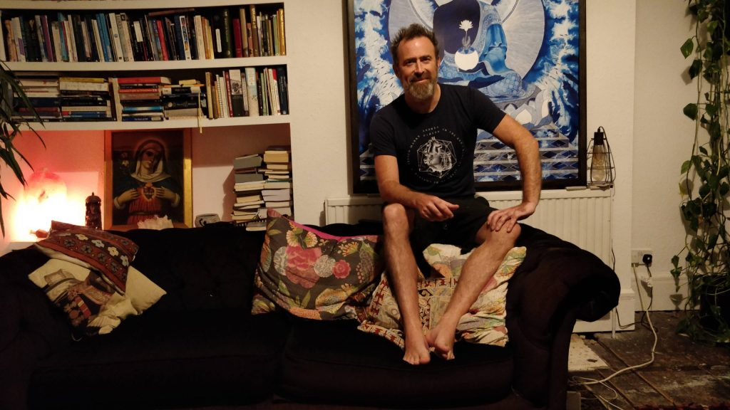 Artist Dan Hillier at his home in Hackney