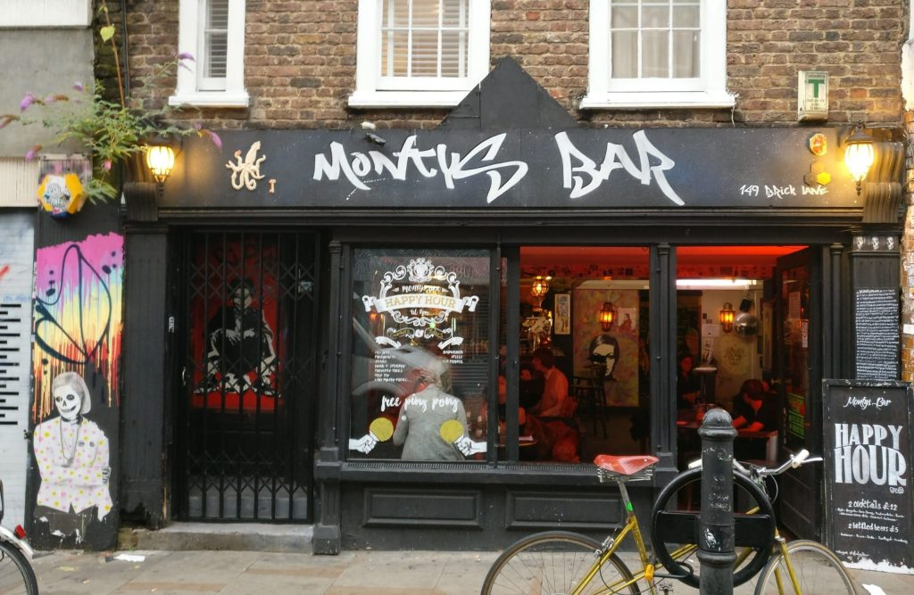 Montys Bar on Brick Lane