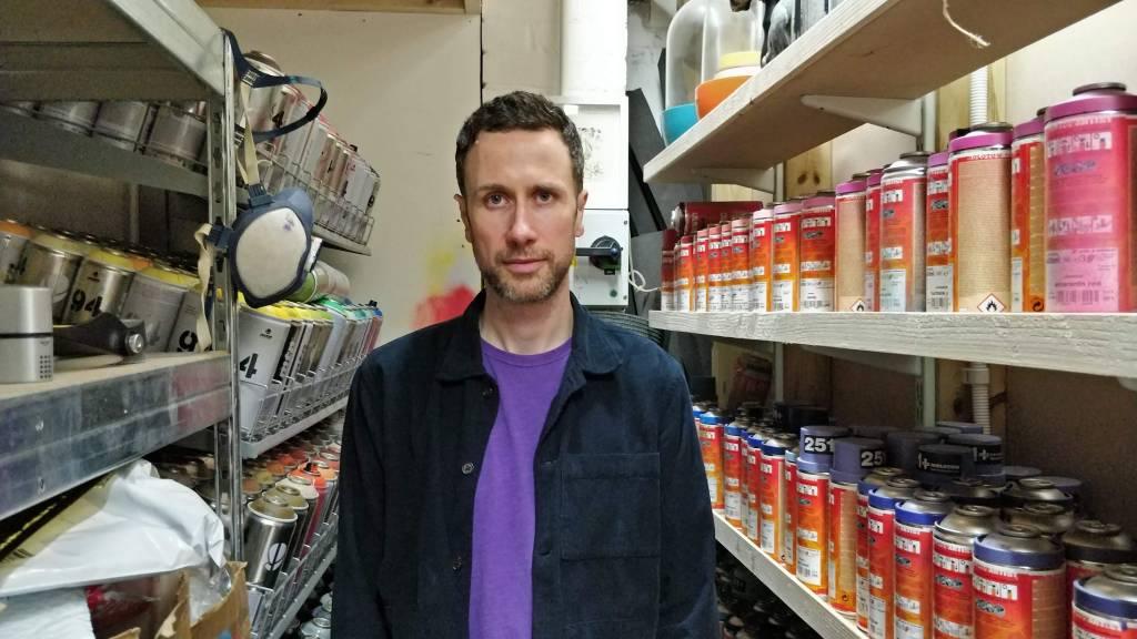 Eelus at his studio in Brighton