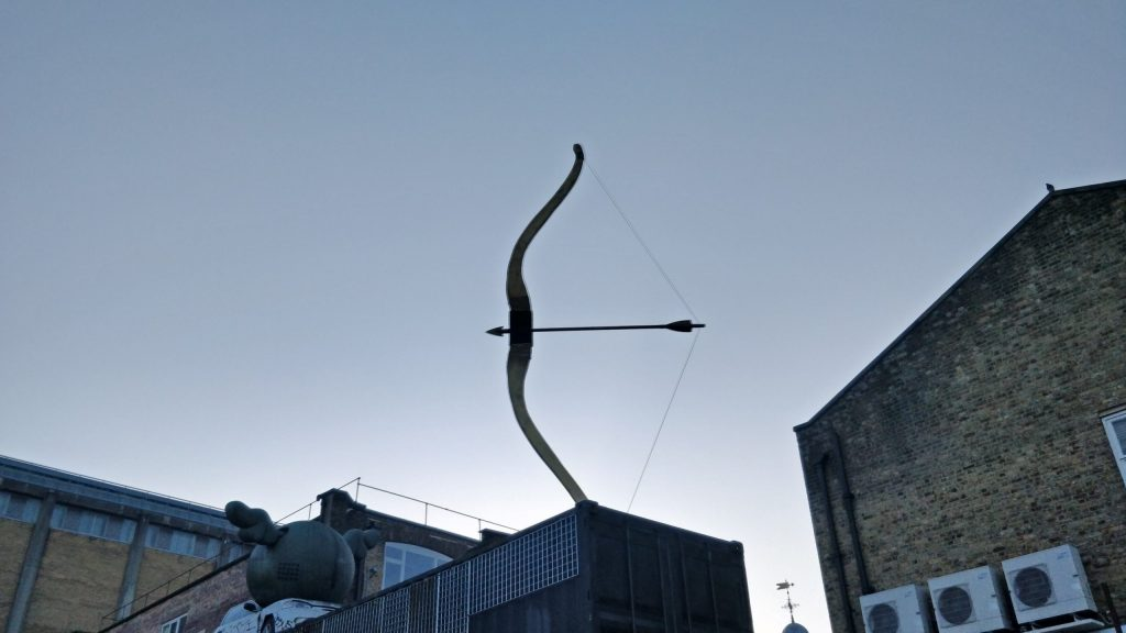 Bow and Arrow Sculpture at the Truman Brewery