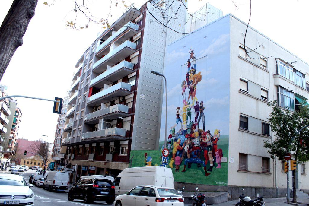 Mural by Yoseba MP in the Placa de Guernica.