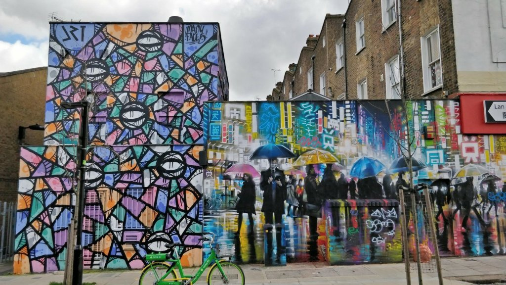 Street Art Murals on Hartland Street in Camden
