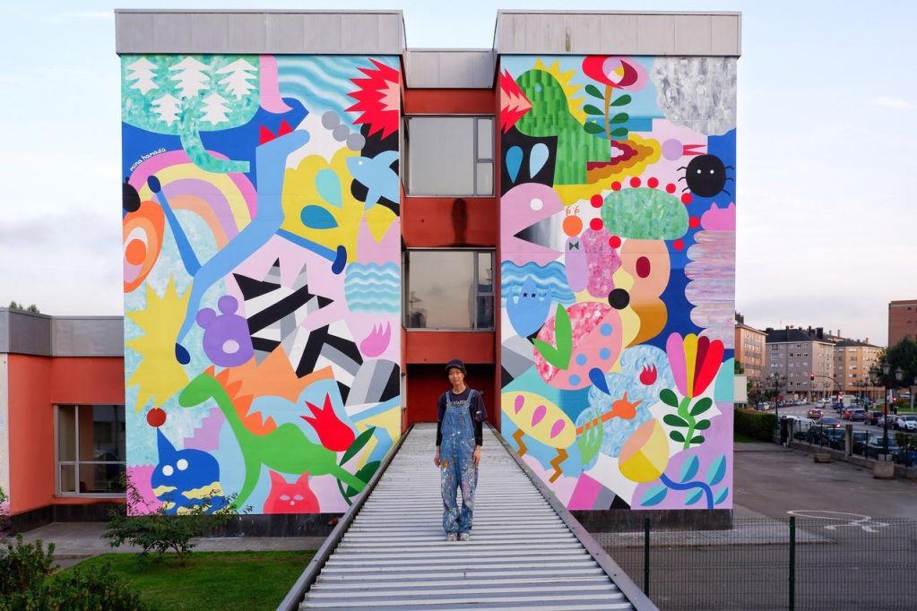 Mina Hamada will be painting at the Avant Garde Tudela festival in 2020