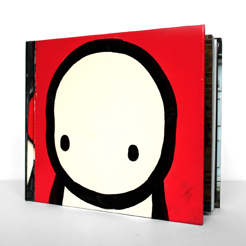 LDN Graffiti book cover painted by Stik to raise money for the GOSH charity
