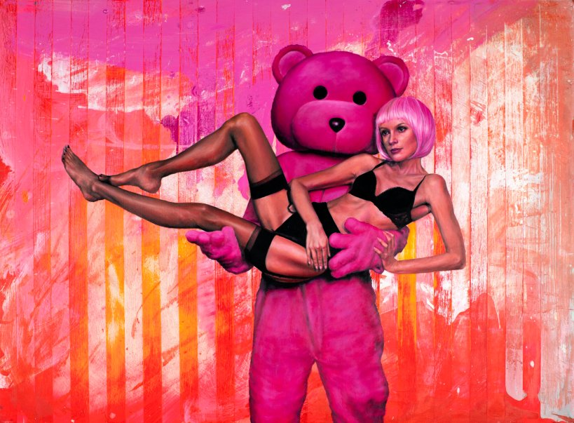 The Pink Bear and Model by LUAP