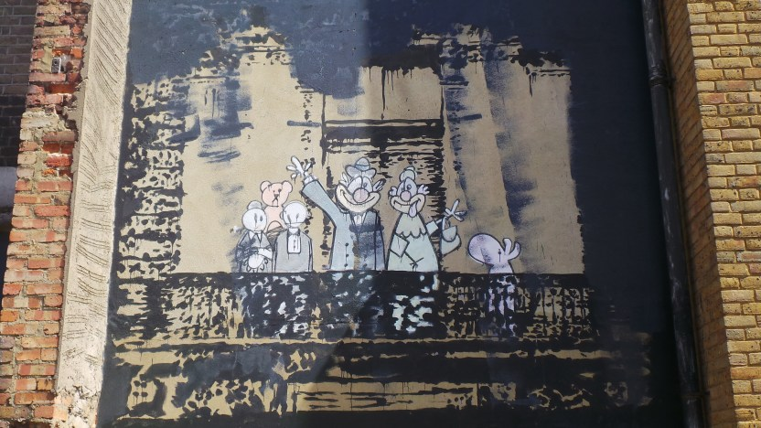 The Crazy Beat Royal Family in Stoke Newington by Banksy