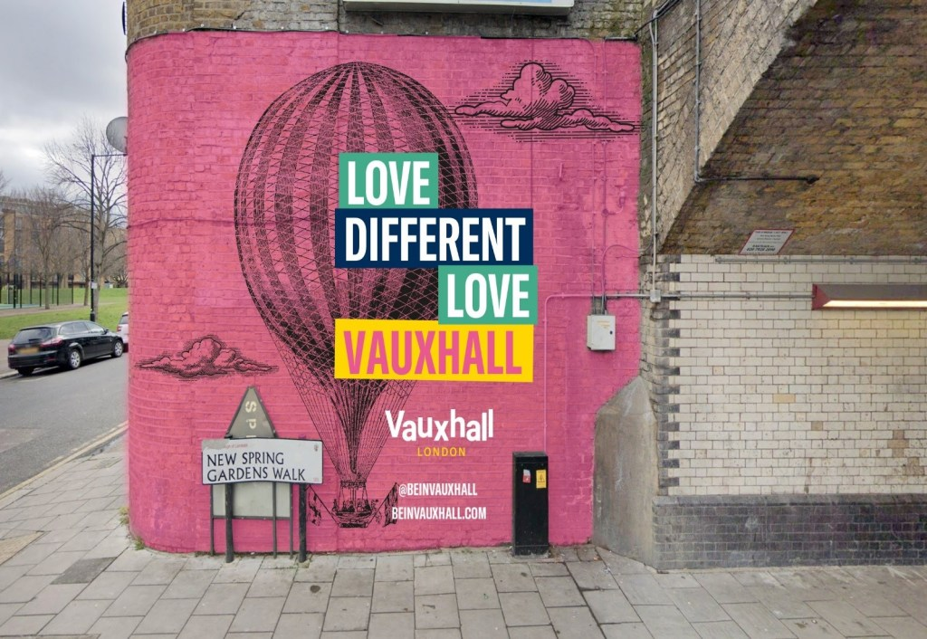 The Balloon Mural by Nerone in Vauxhall
