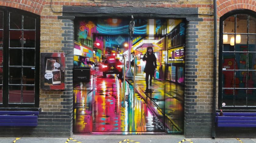 Dan Kitchener mural on Rivington Street