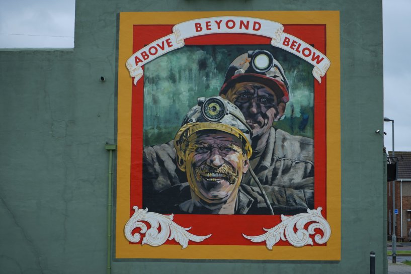 Above Beyond Below the mural by Cosmo Sarson