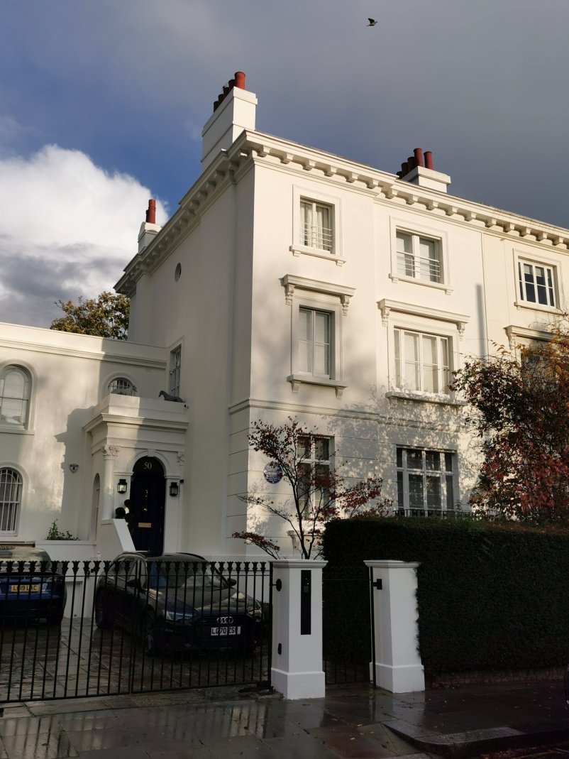 50 Clarendon Road where Emmeline and Christabel Pankhurst lived. They play a key role in the history of the Kensington Suffragette History