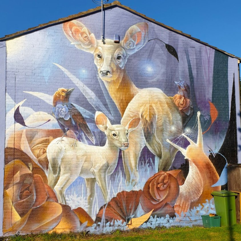 Mural by Curtis Hylton for the Cheltenham Paint Festival 2020