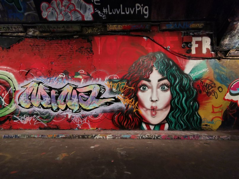 Mural by Curiouser and Curiouser in the Leake Street Tunnel