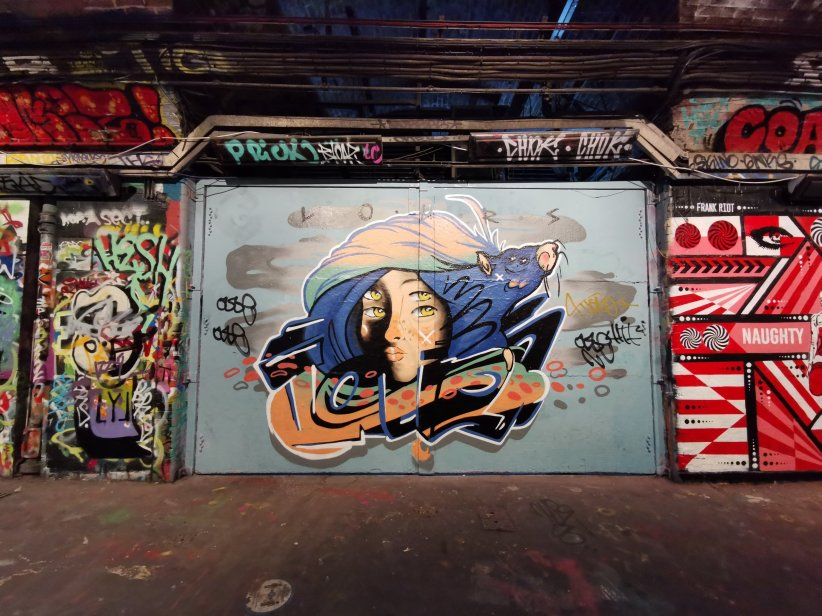 Mural by Real Lours in the Leake Street Arches