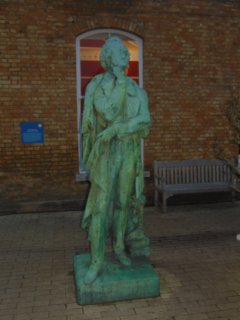 Statue of Mendelssohn by Charles Bacon at Eltham College