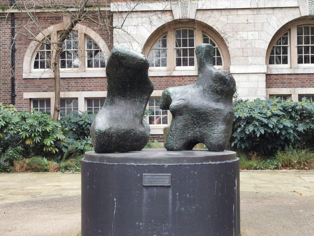 Henry Moore sculpture on Manresa Road in London