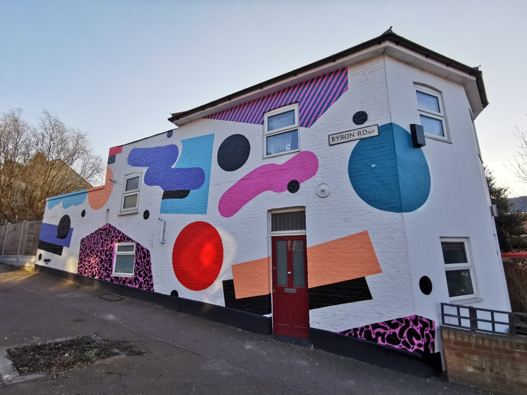 Street art mural by Mr Penfold in Walthamstow