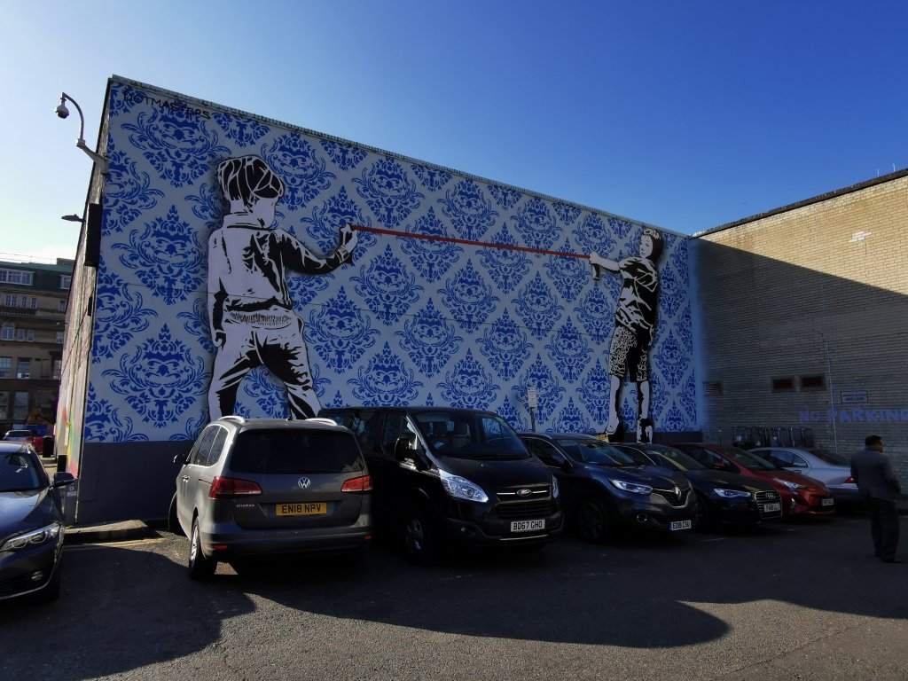 Dotmasters mural in Ilford