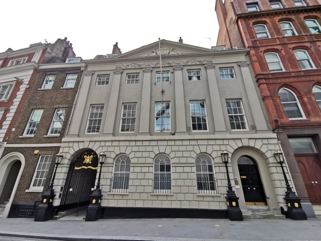 The Skinner's Company is opposite Cannon Street station