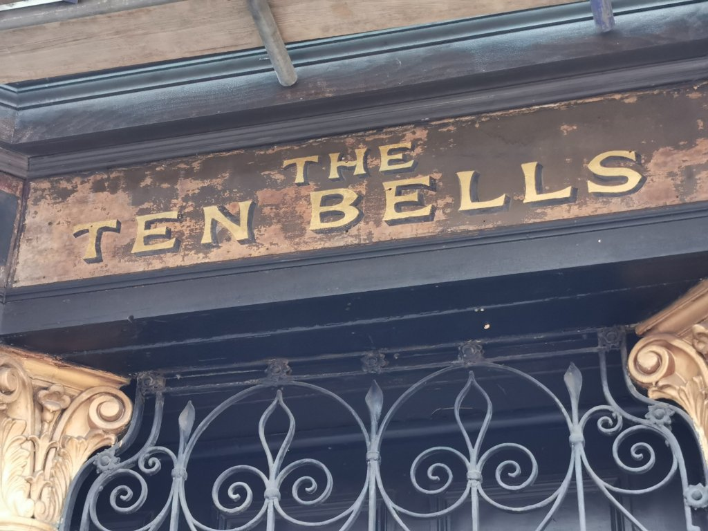 The notorious Ten Bells on the corner of Fournier Street and Commercial Street