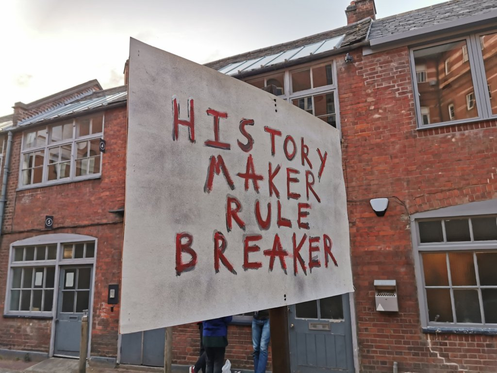 History maker, rule breaker sign at the thirteenth stroke exhibition