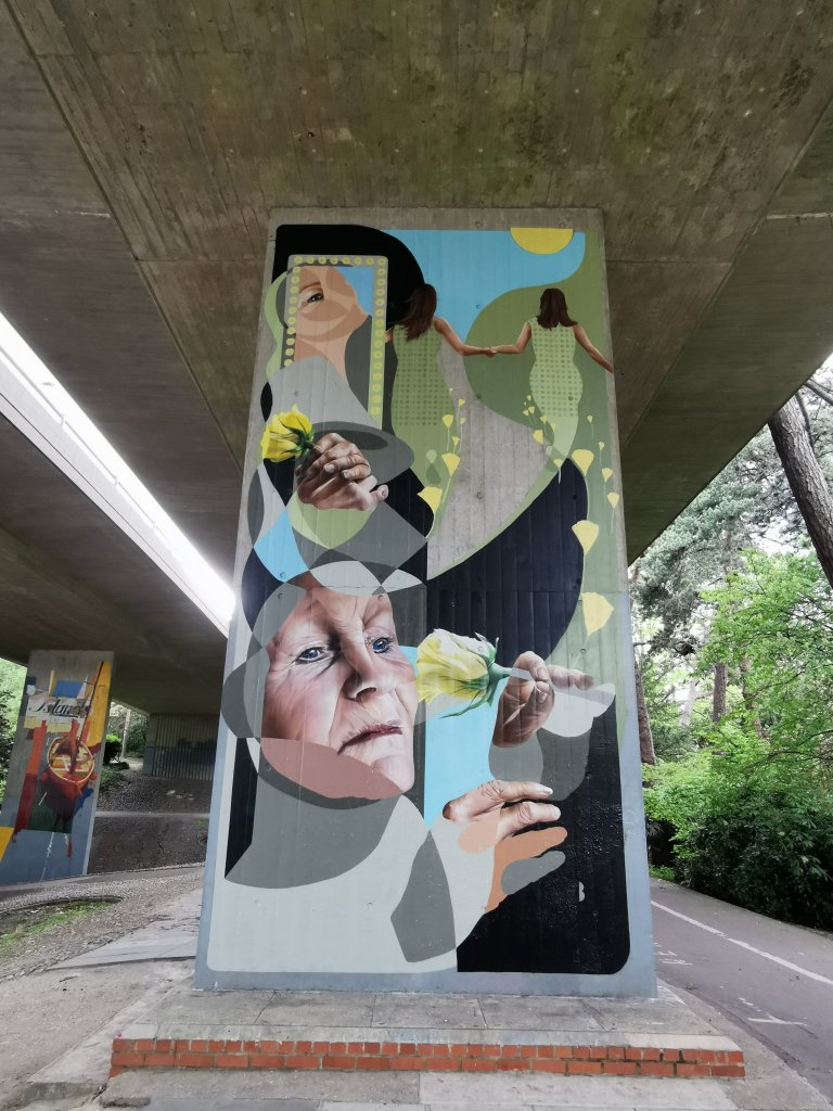 Mural by Best | Ever in the Central Gardens in Bournemouth