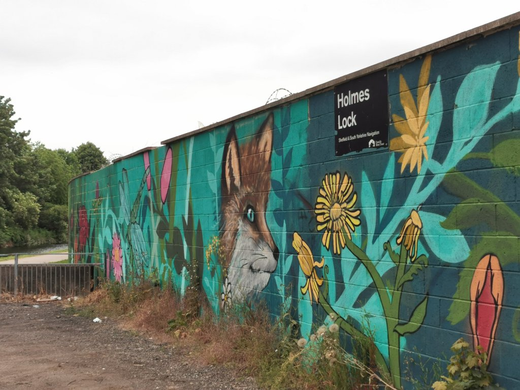 South Yorkshire street art on the Rotherham Sheffield canal