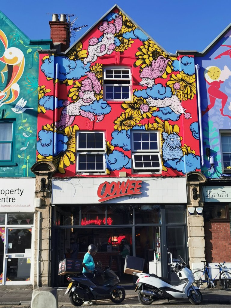 Street art by Lucas Antics one of the six sisters murals in Bristol
