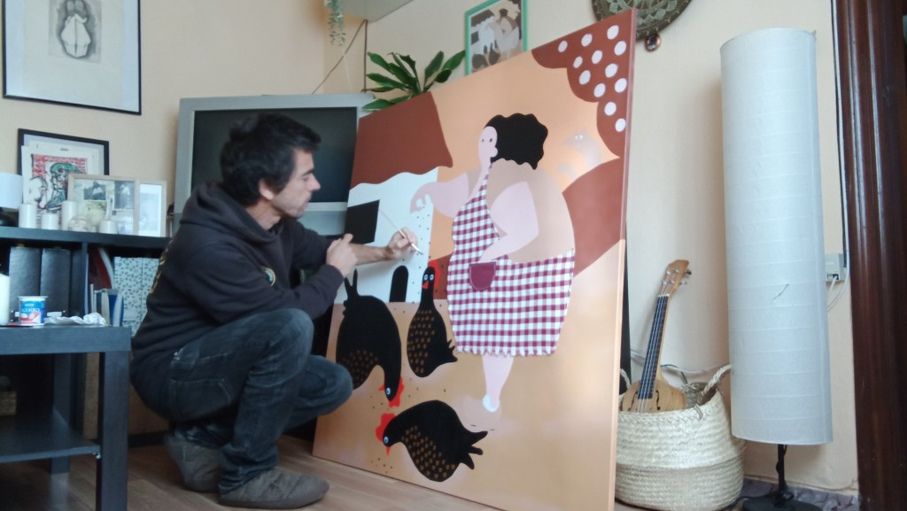 Foni Ardao is a local artist to Oviedo taking part in Parees Fest 2021